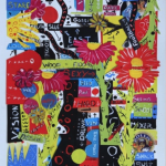 Sam Gimbel. The politics of pub. Gouache collage su carta 300gr, 78x53